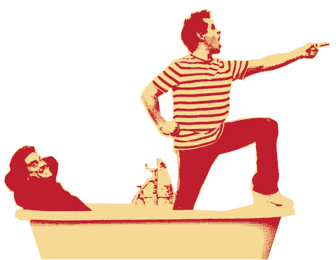 Dick and Dom in Bath Tub