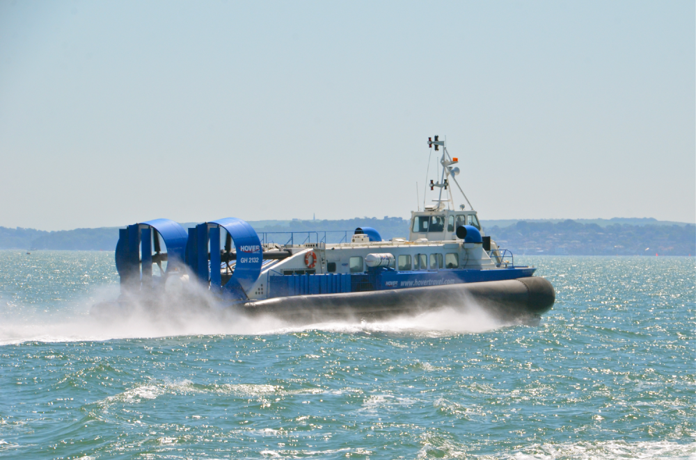 Hover craft crossing the Solent